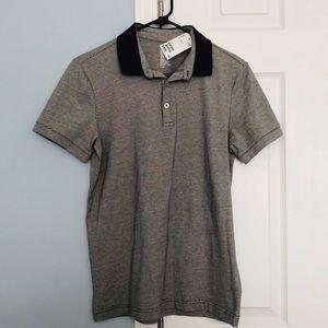 H&M Fine Cotton Stretch Polo Collar Shirt Small